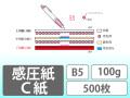 感圧紙 C紙 B5 100g 500枚