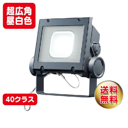 岩崎電気 ecf4040sw/nsan8/dg led投光器 レディオックフラッドネオ 40クラス 超広角タイプ 昼白色タイプ