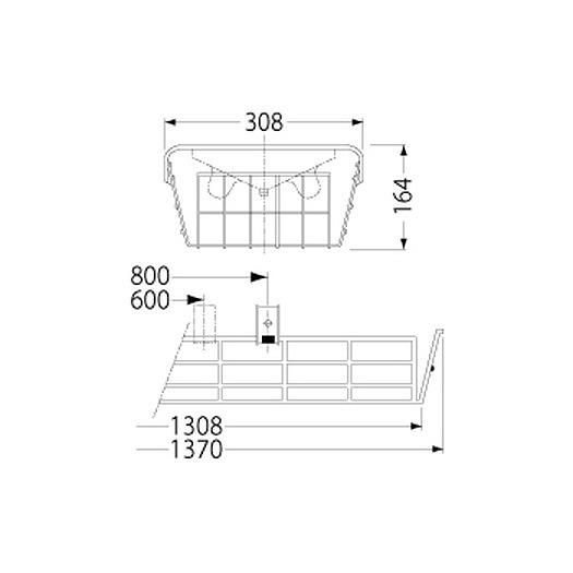 PF42501/ガード/LEDベースライト(40Wタイプ)用