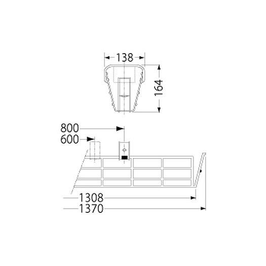 PF41504/ガード/LEDベースライト(40Wタイプ)用(ステンレス製)