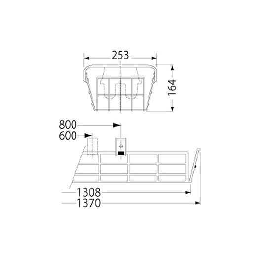 PF41514/ガード/LEDベースライト(40Wタイプ)用(ステンレス製)