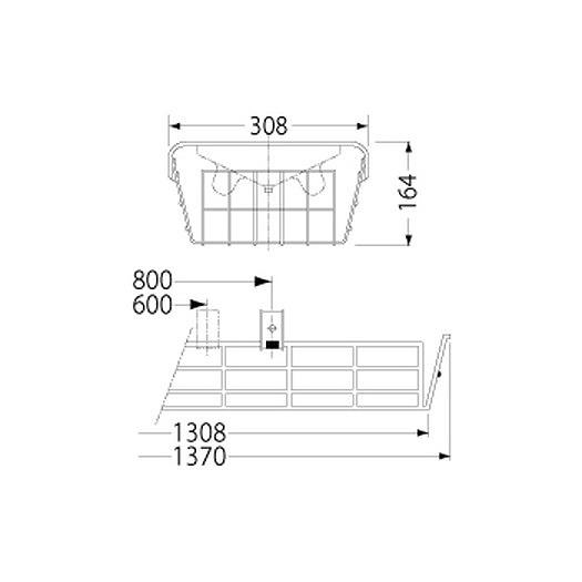 PF42504/ガード/LEDベースライト(40Wタイプ)用(ステンレス製)