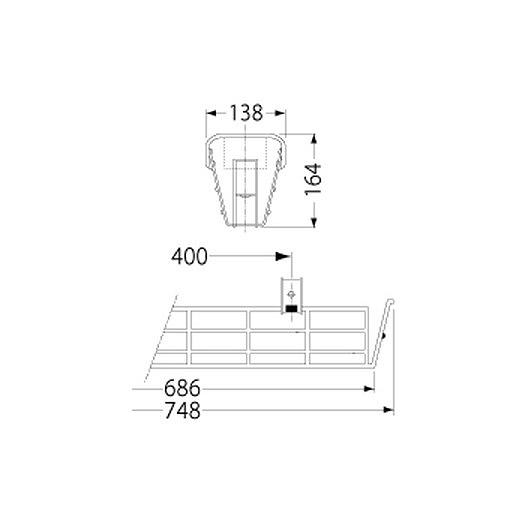 PF21504/ガード/LEDベースライト(20Wタイプ)用(ステンレス製)
