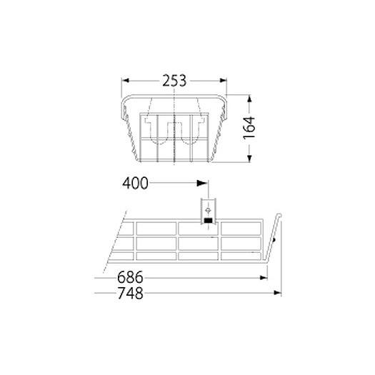PF21514/ガード/LEDベースライト(20Wタイプ)用(ステンレス製)