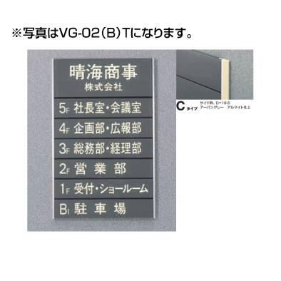 5090505(特注CD) VG-02(C)T ガイドサイン(T面板) タテヤマアドバンス 室内サイン