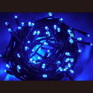 オリジナルLEDストリングライト/ブラックコード/ブルー/60752BLU