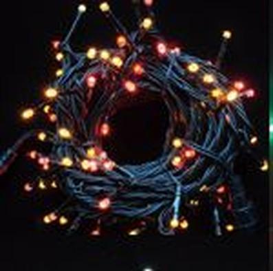 オリジナルLEDストリングライト/ブラックコード/レッド+イエローMIX/60752RYL