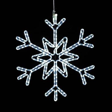 東京大西造花装飾/耐水65cm270球広角型LEDホワイトロープライトスノーフレーク/DILI61246
