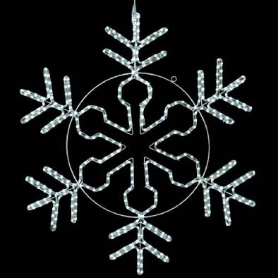東京大西造花装飾/耐水100cm450球広角型LEDホワイトロープライトスノーフレーク/DILI61191