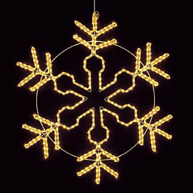 東京大西造花装飾/耐水100cm450球広角型LEDシャンペーンロープライトスノーフレーク/DILI61096