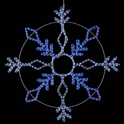 東京大西造花装飾/耐水100cm384球広角型LEDホワイトブルーロープライトスノーフレーク/DILI61195