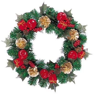 東京大西造花装飾/30cmクリスマスボックスリース/DIWR6739