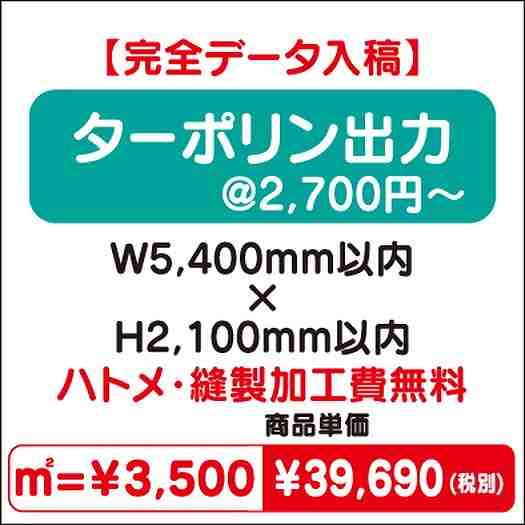 スエード出力/ハトメ・縫製加工費無料/W5,400×H2,100