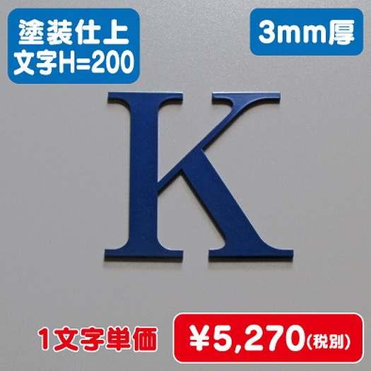 ステンレス切文字/塗装仕上げ/3mm厚/文字H=200