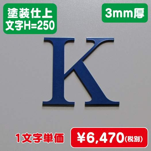 ステンレス切文字/塗装仕上げ/3mm厚/文字H=250