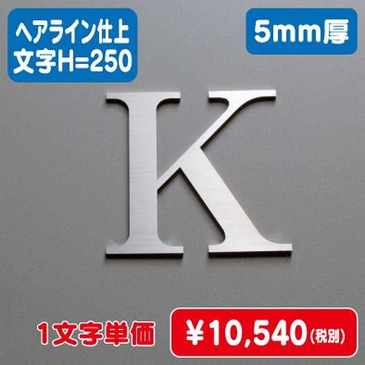 激安価格/ステンレス切文字/ヘアライン仕上げ/5mm厚/文字H=250