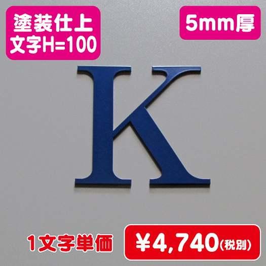 ステンレス切文字/塗装仕上げ/5mm厚/文字H=100
