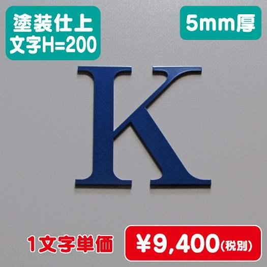 ステンレス切文字/塗装仕上げ/5mm厚/文字H=200
