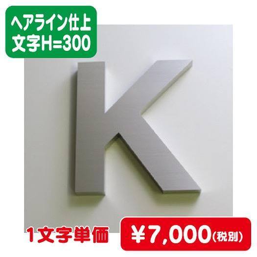 ステンレス箱文字/ヘアライン仕上げ/文字H=300