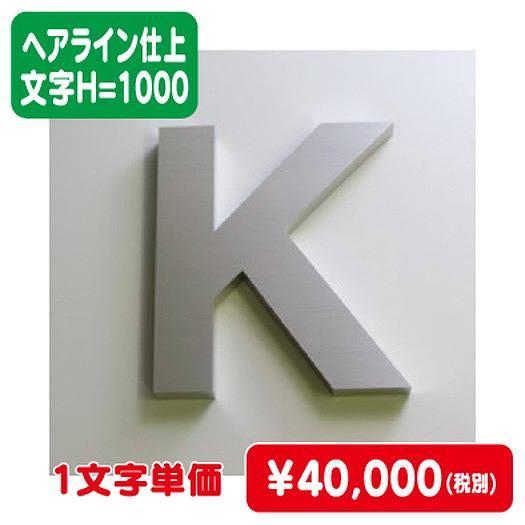 ステンレス箱文字/ヘアライン仕上げ/文字H=1000