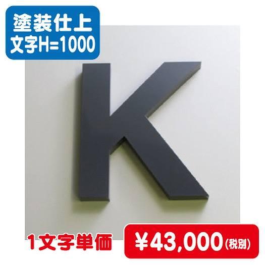激安価格/ステンレス箱文字/塗装仕上げ/文字H=1000