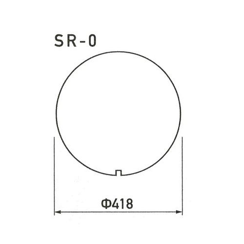 GX,スーパーカーブミラーサイン,上面板(白無地)SR-0