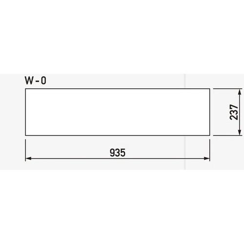 GX,ブロックサイン(旧ワイドポップサイン)白無地面板,W-0