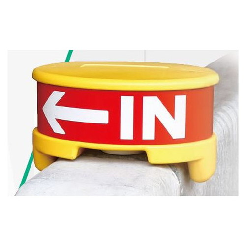GX縁石エンドマーカーサイン本体反射シート面板付EMS-01-Yなら看板材料.comの商品画像