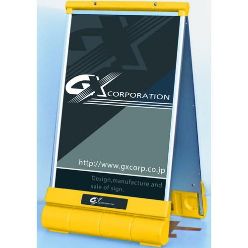 GXアキュートサインType-AイエローレッドシルバーG-6090-W-SG-6090-W-YG-6090-W-Rなら看板材料.comの商品画像