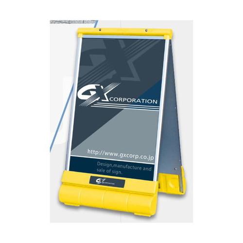 GXアキュートサインType-BイエローレッドシルバーG-6091-W-SG-6091-W-YG-6091-W-Rなら看板材料.comの商品画像
