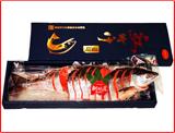 2018-47 【中辛】紅鮭切身1尾(真空パック化粧箱入り・約2kg〜2.2kg)