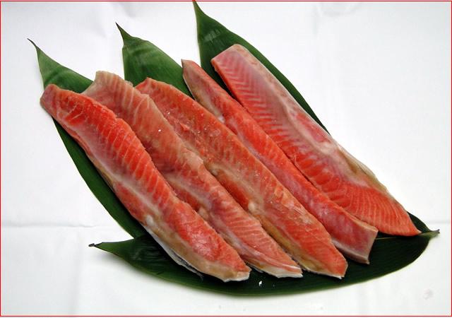 2018-103 紅鮭ハラス(甘口・500g)