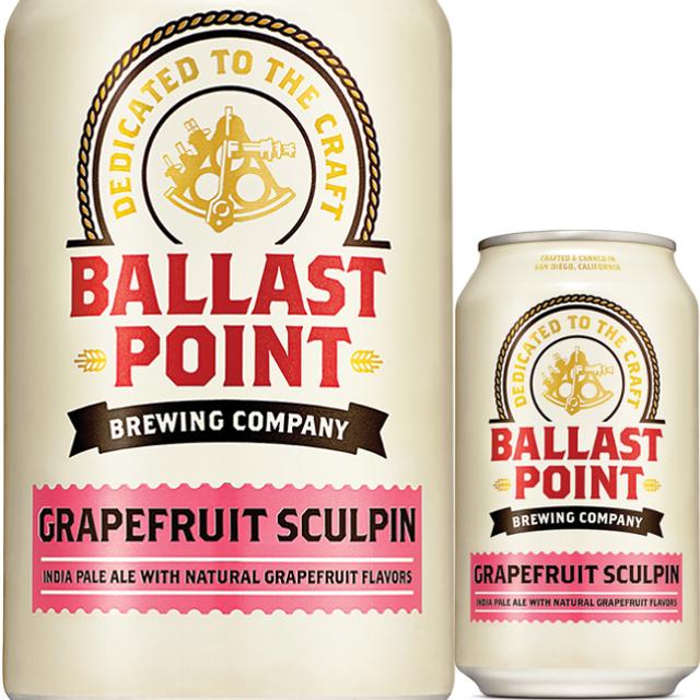 Ballast Point (バラストポイント) グレープフルーツ スカルピンIPA缶 355ml