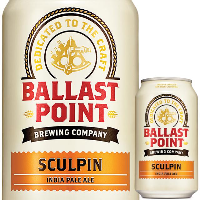 Ballast Point (バラストポイント) スカルピンIPA缶 355ml
