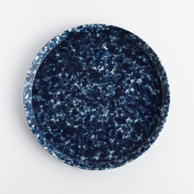 反りプレート 呉須うのふセミマット 金善製陶所