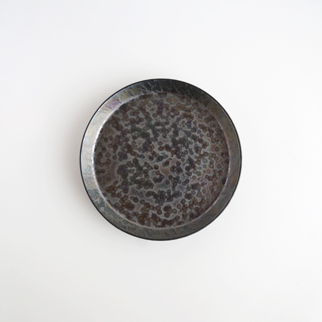 反りプレート いぶしパール 金善製陶所
