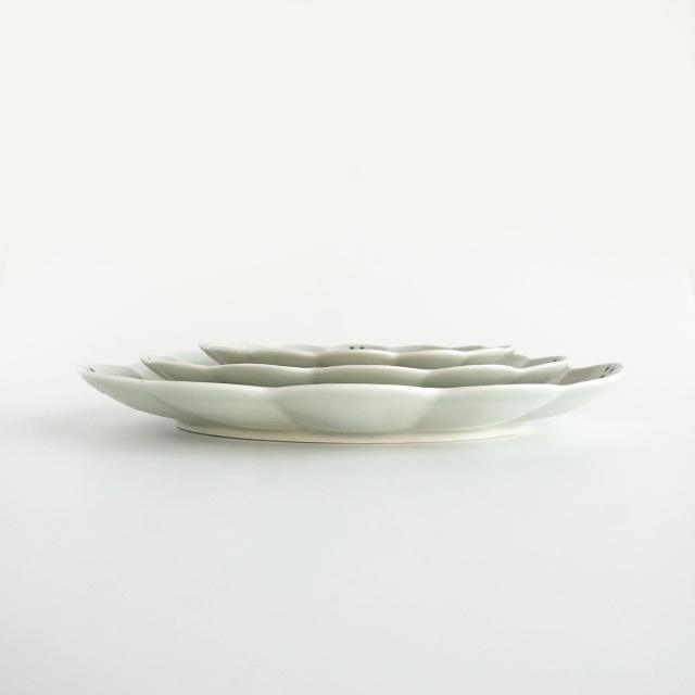楕円菊割皿 金善製陶所 金善窯 有田焼