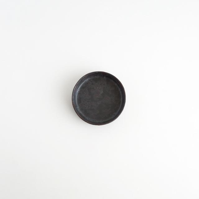 バーチカルプレート 黒サビ絞り 金善窯 有田焼 7.5cm