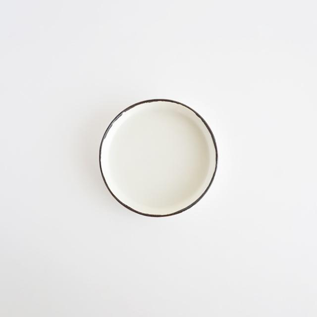 バーチカルプレート ホワイト釉 金善窯 有田焼 10cm