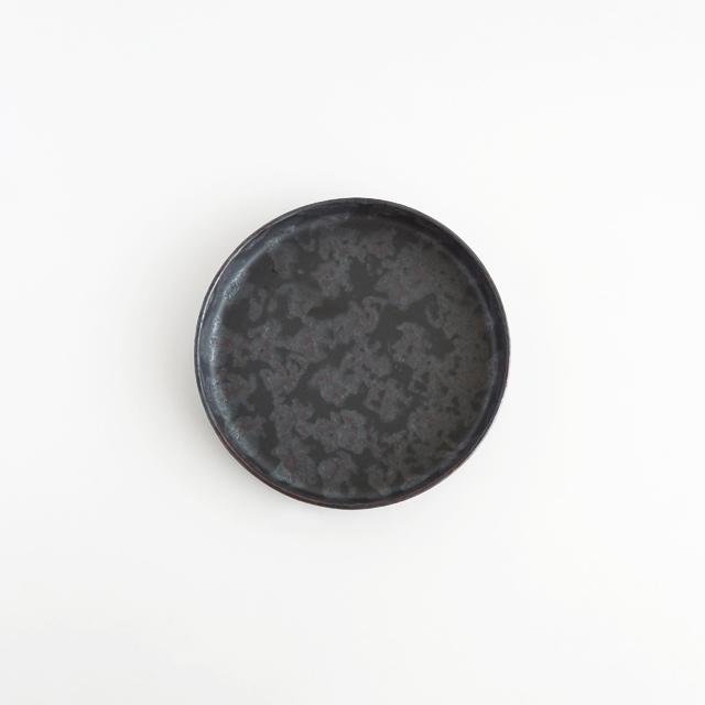 バーチカルプレート 黒サビ絞り 金善窯 有田焼 12.5cm
