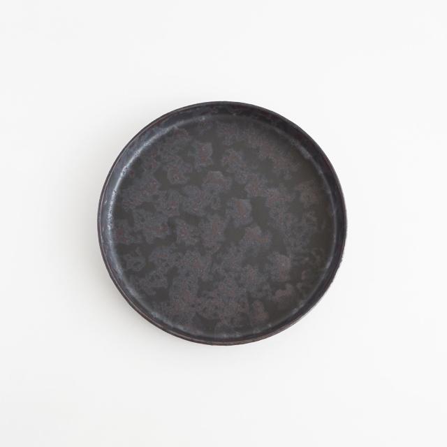バーチカルプレート 黒サビ絞り 金善窯 有田焼 15cm