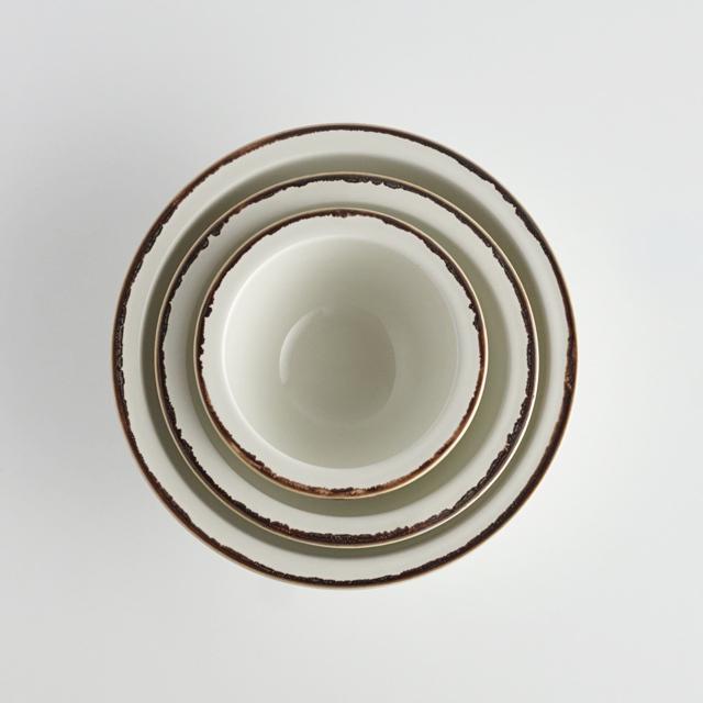 リムボール ホワイト釉黒サビ