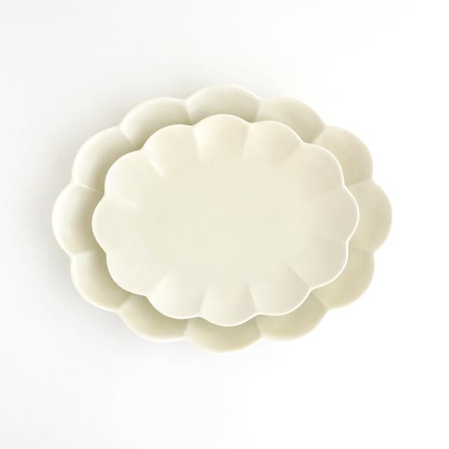 セール アウトレット 金善製陶所 楕円菊 菊 皿 プレート