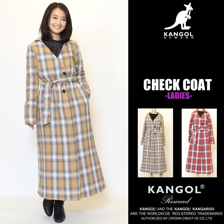 KANGOL REWARD チェックコート