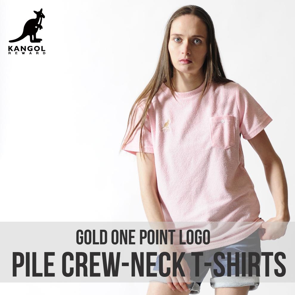KANGOL REWARD 金糸刺繍ワンポイントレディースクルーネックTシャツ