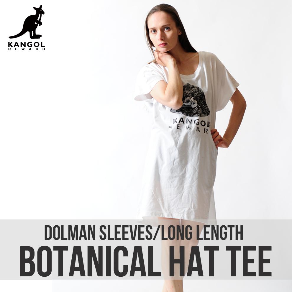 KANGOL REWARD ボタニカルHATドルマンロングTシャツ