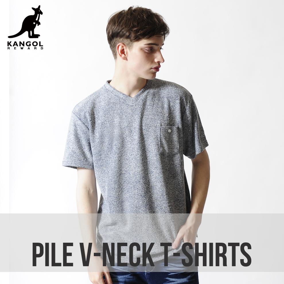 KANGOL REWARD VネックTシャツ