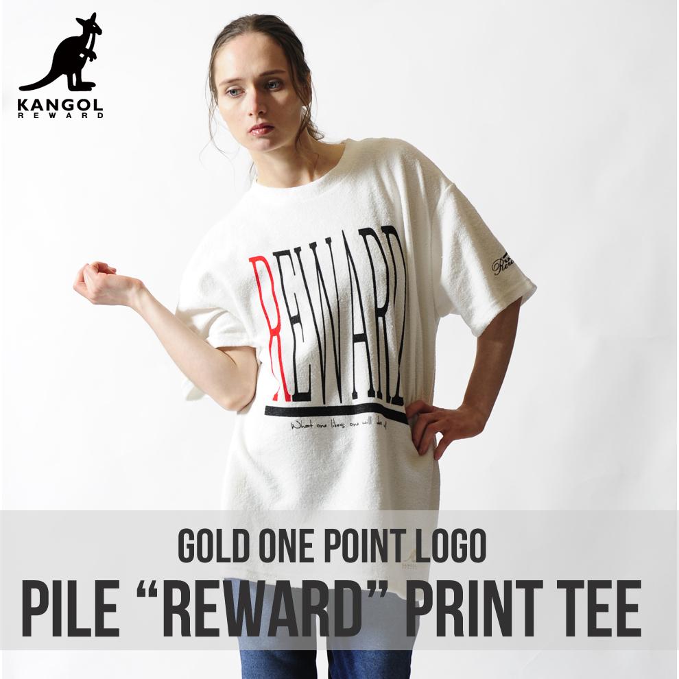 KANGOL REWARD 金糸刺繍ワンポイントクルーネック半袖Tシャツ