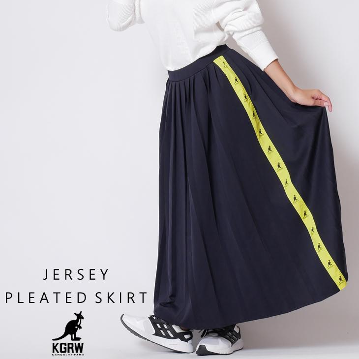 KANGOL REWARD ジャージプリーツスカート