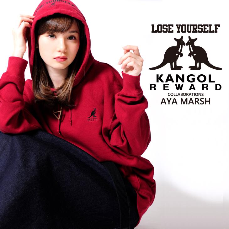 【完全受注生産】   マーシュ彩×KANGOL REWARD コラボプルオーバーパーカー